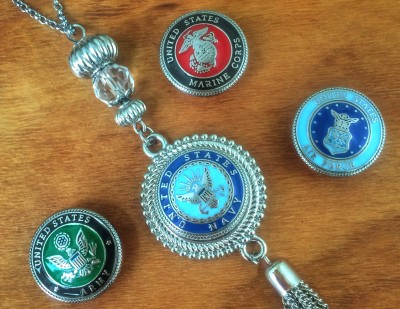 Military Snap Charm Jewelry