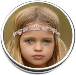 H7886 Blonde Baby Girl Floating Locket Charm