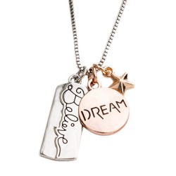 N01 Dream and Believe Stamped Necklace