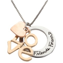 N04 Friends Forever Stamped Necklace