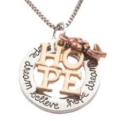 N06 Hope Dream Believe Stamped Necklace