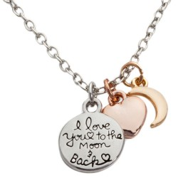 N09 Love You to the Moon and Back Stamped Necklace