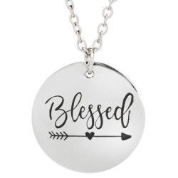 N101 Blessed Stamped Necklace