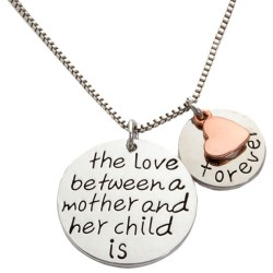 N15 Love Between Mother and Child Stamped Necklace