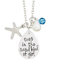 N152 Toes In The Sand Stamped Necklace