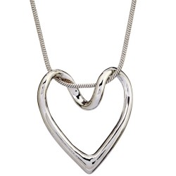 N161 Floating Heart Necklace