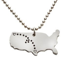 N19 Across the Miles Stamped Necklace