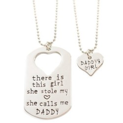 N20 Stole My Heart Calls Me Daddy Stamped Necklace
