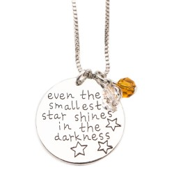 N23 Smallest Star Shines Stamped Necklace