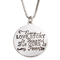 N24 Every Love Story Stamped Necklace