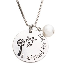 N32 Wished for You Stamped Necklace