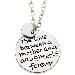 N34 Love Between Mother and Daughter Stamped Necklace