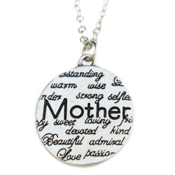 N36 Mother Attributes Stamped Necklace