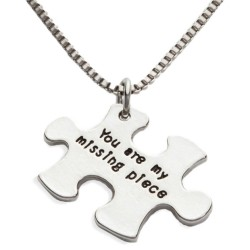 N45 My Missing Piece Stamped Necklace