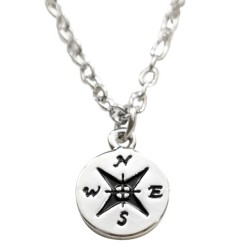 N46 Compass Stamped Necklace