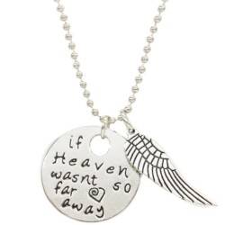 N51 Heaven So Far Away Stamped Necklace