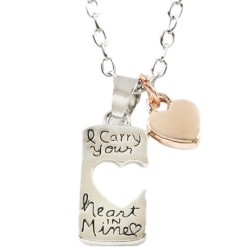 N58 I Carry Your Heart in Mine Stamped Necklace