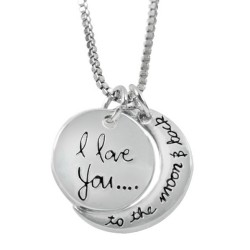 N59 Love You to the Moon and Back Stamped Necklace