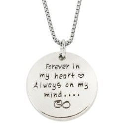 N61 Always on my Mind Stamped Necklace