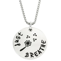N62 Just Breathe Stamped Necklace
