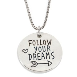 N63 Follow Your Dreams Stamped Necklace
