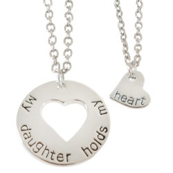 N64 Daughter Holds My Heart Stamped Necklace