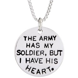 N71 Soldier I Have His Heart Stamped Necklace