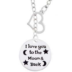N78 To The Moon And Back Stamped Necklace