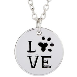 N79 Love with Paw Stamped Necklace