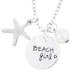 N82 Beach Girl Stamped Necklace