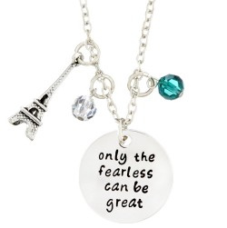 N87 Only Fearless Great Stamped Necklace
