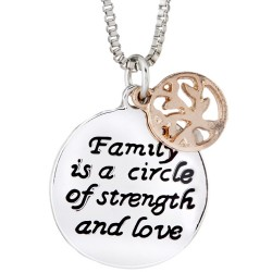 N90 Family is a Circle Stamped Necklace