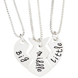 N92 Big Middle Little Stamped Necklace
