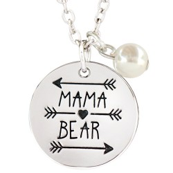 N95 Mama Bear Stamped Necklace