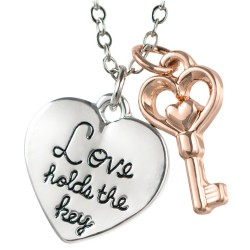 N98 Love Holds the Key Stamped Necklace