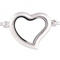AS93 Curvy Heart CZ Locket with Necklace