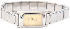 WM104gold Rectangle Gold 13mm Italian Charm Watch